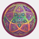 Venus Flower of Love fineART Oriental Antique Gold Round Stickers