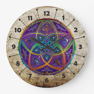 Venus Flower of Love fineART Oriental Antique lila Large Clock