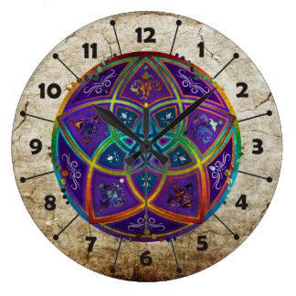 Venus Flower of Love fineART Oriental Antique lila Wall Clock