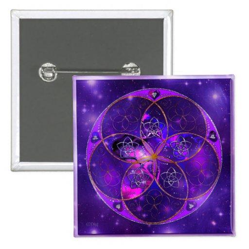 Venus Flower of Love fineART Universe Pinback Button