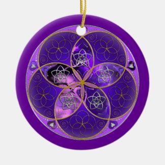 Venus Flower of Love fineART violet pink Ceramic Ornament