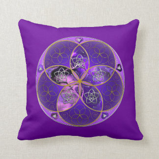 Venus Flower of Love fineART violet pink Pillows