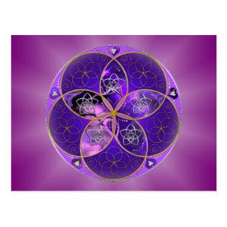 Venus Flower of Love fineART violet pink Postcard