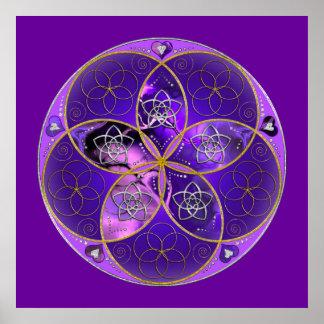 Venus Flower of Love fineART violet pink Poster