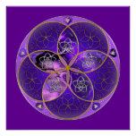 Venus Flower of Love fineART violet pink Posters