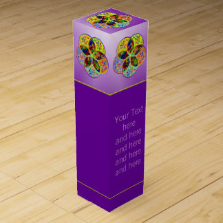 Venus Flower of Love fineART + your text Wine Gift Boxes
