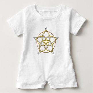 Venus Flower Pentagram - TriColor Baby Romper