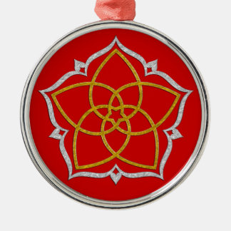 VENUS FLOWER / Venusblume Lotus GOLD SILVER Metal Ornament