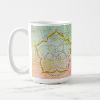 VENUS FLOWER / Venusblume Lotus SILVER GOLD Coffee Mug