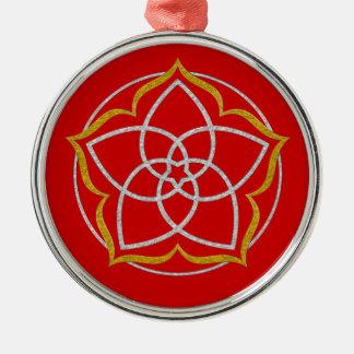 VENUS FLOWER / Venusblume Lotus SILVER GOLD Metal Ornament