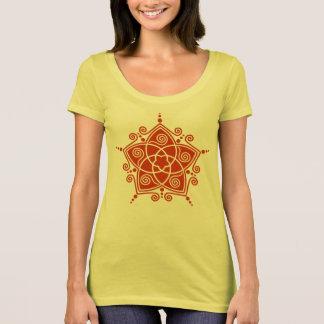 Venus flowers pentagram - golden cut T-Shirt