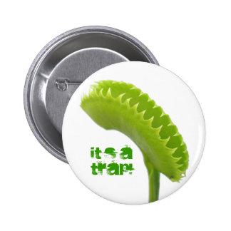 Venus Fly Trap 2 Inch Round Button