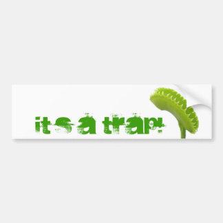 Venus Fly Trap Car Bumper Sticker