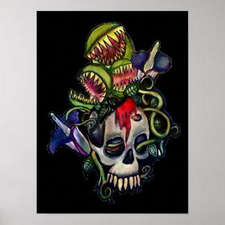 Venus Fly Trap & Corpse Flower Skull Print