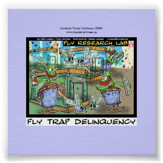 Venus Fly Trap Delinquency Fun Rick London Poster