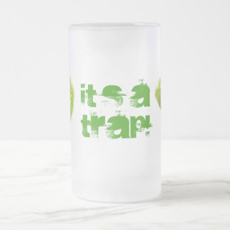 Venus Fly Trap Frosted Glass Beer Mug