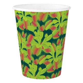 Venus Flytrap Botanical Pattern Paper Cup