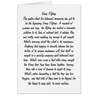 Venus Flytrap Card