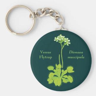 Venus Flytrap Floral Art Basic Round Button Keychain
