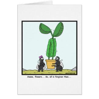 Venus flytrap: Fly cartoon Card
