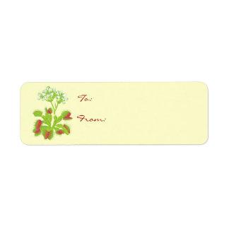 Venus Flytrap Gift Tag Labels
