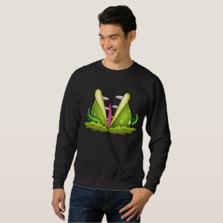 venus flytrap monster mens sweatshirt