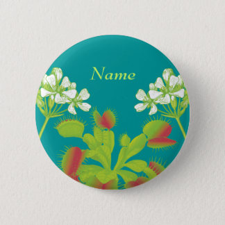 Venus Flytrap Name Badge Button