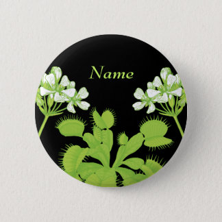 Venus Flytrap Name Tag Button