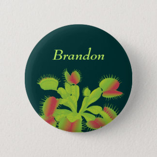 Venus Flytrap Name Tag Pinback Button