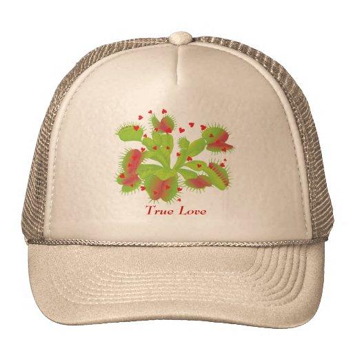 Venus Flytrap with Hearts Trucker Hats
