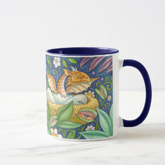 Venus Flytraps and Hatching Dragon Fantasy Mug