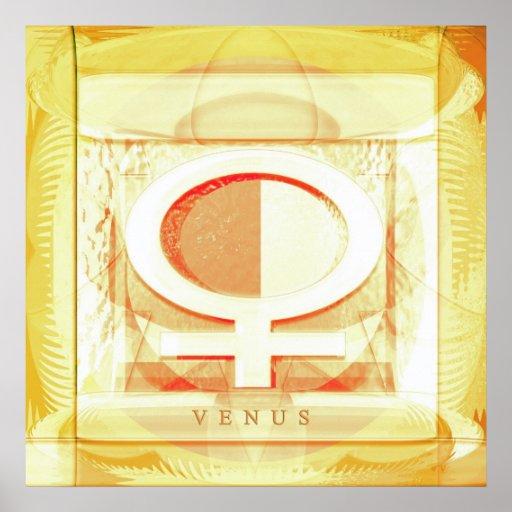 VENUS Gold Poster