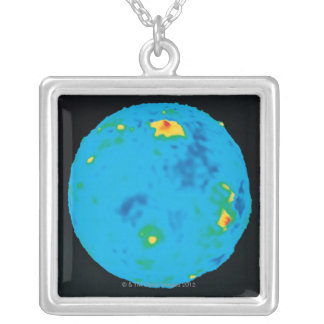 Venus, High Resolution Gravity Data Silver Plated Necklace