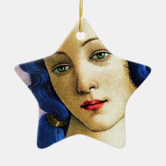 Venus In Blue Ceramic Ornament