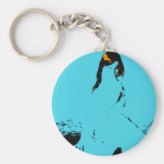 Venus in Blue Keychain