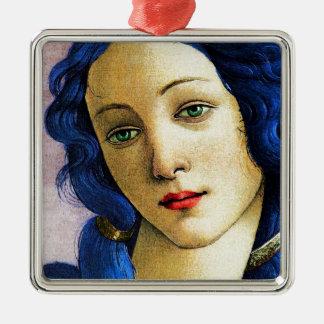 Venus In Blue Metal Ornament