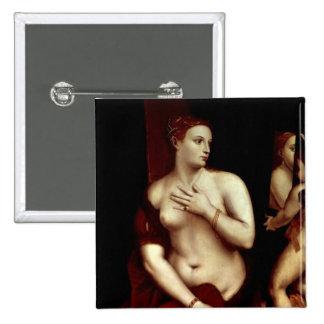 Venus in Front of the Mirror 2 Inch Square Button