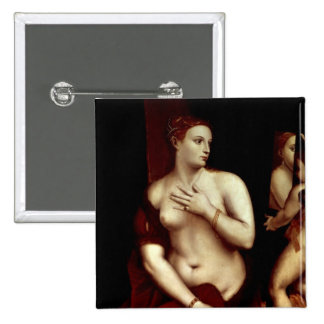 Venus in Front of the Mirror Pinback Button