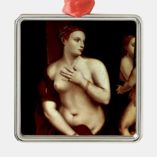 Venus in Front of the Mirror Metal Ornament