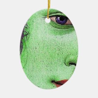 Venus in green ceramic ornament