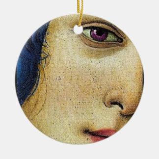 venus in purple ceramic ornament