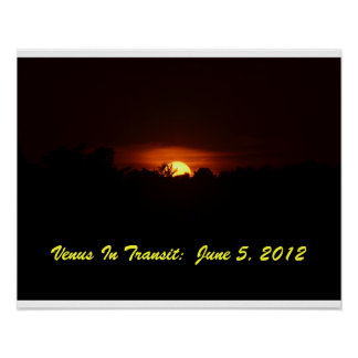 Venus in Transit, June 5, 2012 Posters
