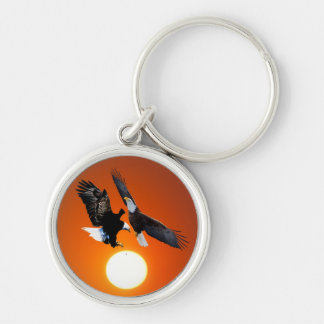 Venus in transit with two eagles key chains