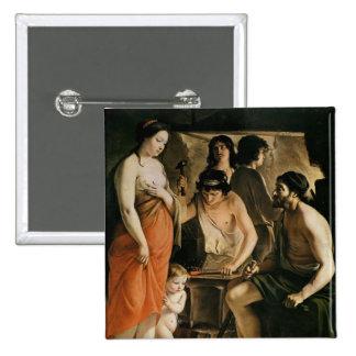 Venus in Vulcan's Forge, 1641 Pinback Button