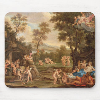 Venus in Vulcan's Forge, 18th century Mouse Pad