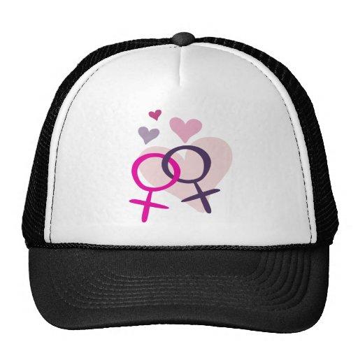 Venus lesbiano entrelazado gorras