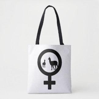 Venus Llama Tote Bag