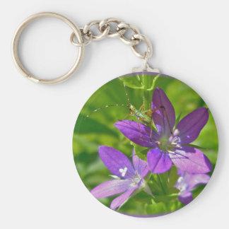 Venus Looking Glass Wildflower Floral Keychain