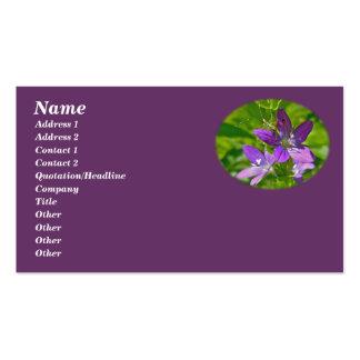 Venus Looking Glass Wildflower & Grasshopper Business Card