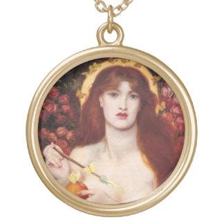 Venus Love Charm Amulet Large Gold Plated Necklace